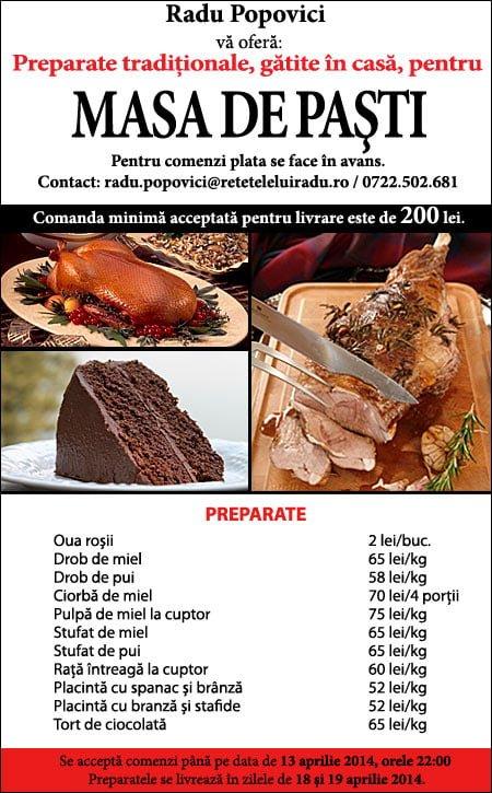 bannerPasti11 - Mâncare de casă pentru Paşti! 1 - Retetele lui Radu
