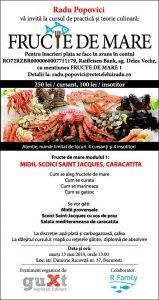 """bannerFructeMare12 - Curs de practică şi teorie culinară: """"Fructe de mare – modulul 1"""" 4 - Retetele lui Radu"""