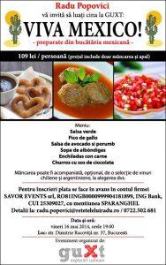 bannerMexico - Eveniment gastronomic la GUXT: Viva Mexico! 60 - Retetele lui Radu