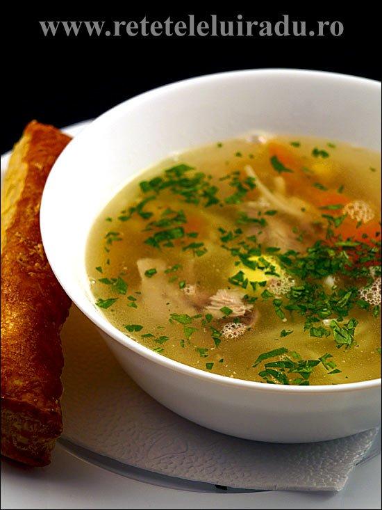 Supa de prepelita cu taitei de casa