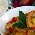 Curry thailandez galben de creveti