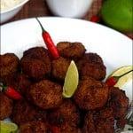 Moo pan kon thot – Chiftele thailandeze din carne de porc
