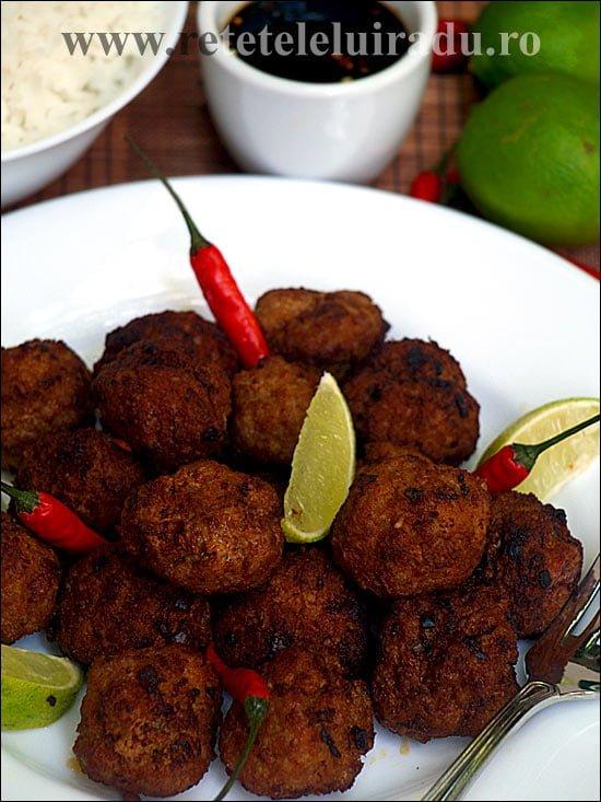 Moo pan kon thot - Chiftele thailandeze din carne de porc