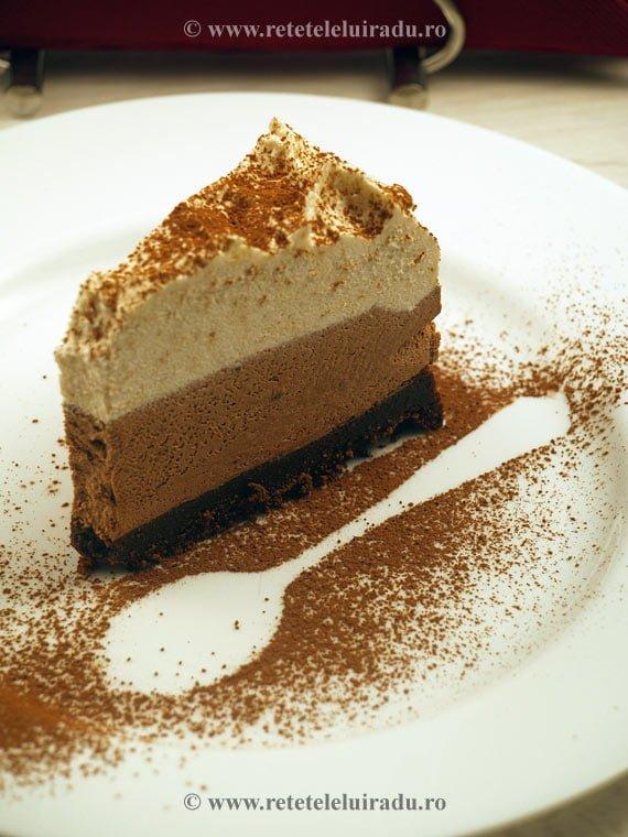 Tort de ciocolata in trei culori