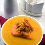 Supa de creveti cu smantana, in stil flamand
