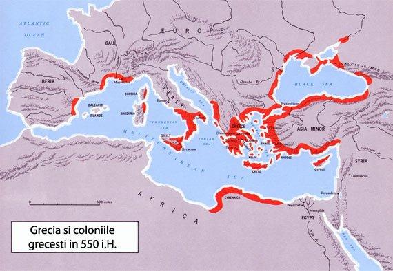 Grecia si coloniile grecesti - sursa foto: www.uta.edu