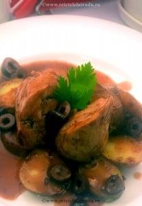 Pulpe de iepure cu sos de vin si masline - Pulpe de iepure cu sos de vin si masline 1 - Retetele lui Radu