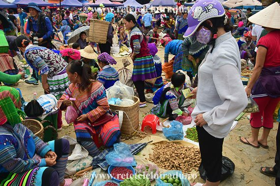 Vietnam subiectiv Piata din Bac Ha, Vietnam