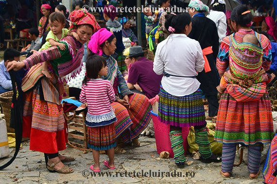 Piata din Bac Ha, Vietnam